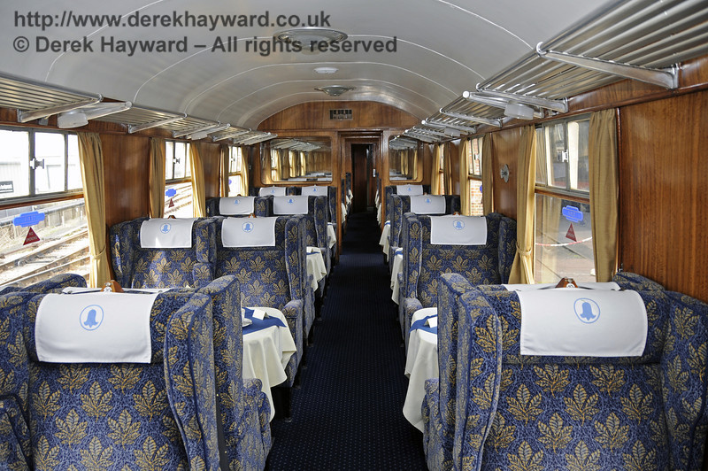 "Inside the Wealden Rambler First Class saloon, which carries the name ""Ashdown"".  30.03.2014  10119"