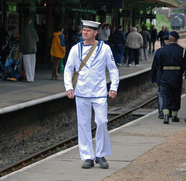 A sailor returns to his ship. Horsted Keynes 12.05.2007