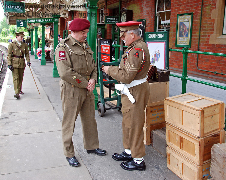 Military identification is checked at Horsted Keynes. 12.05.2007