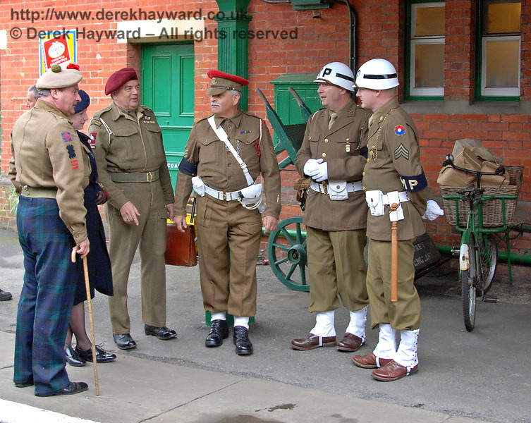 Our staff car may well be obstructing the entrance, Sergeant, but it hardly seems necessary to send three MPs! Horsted Keynes 12.05.2007