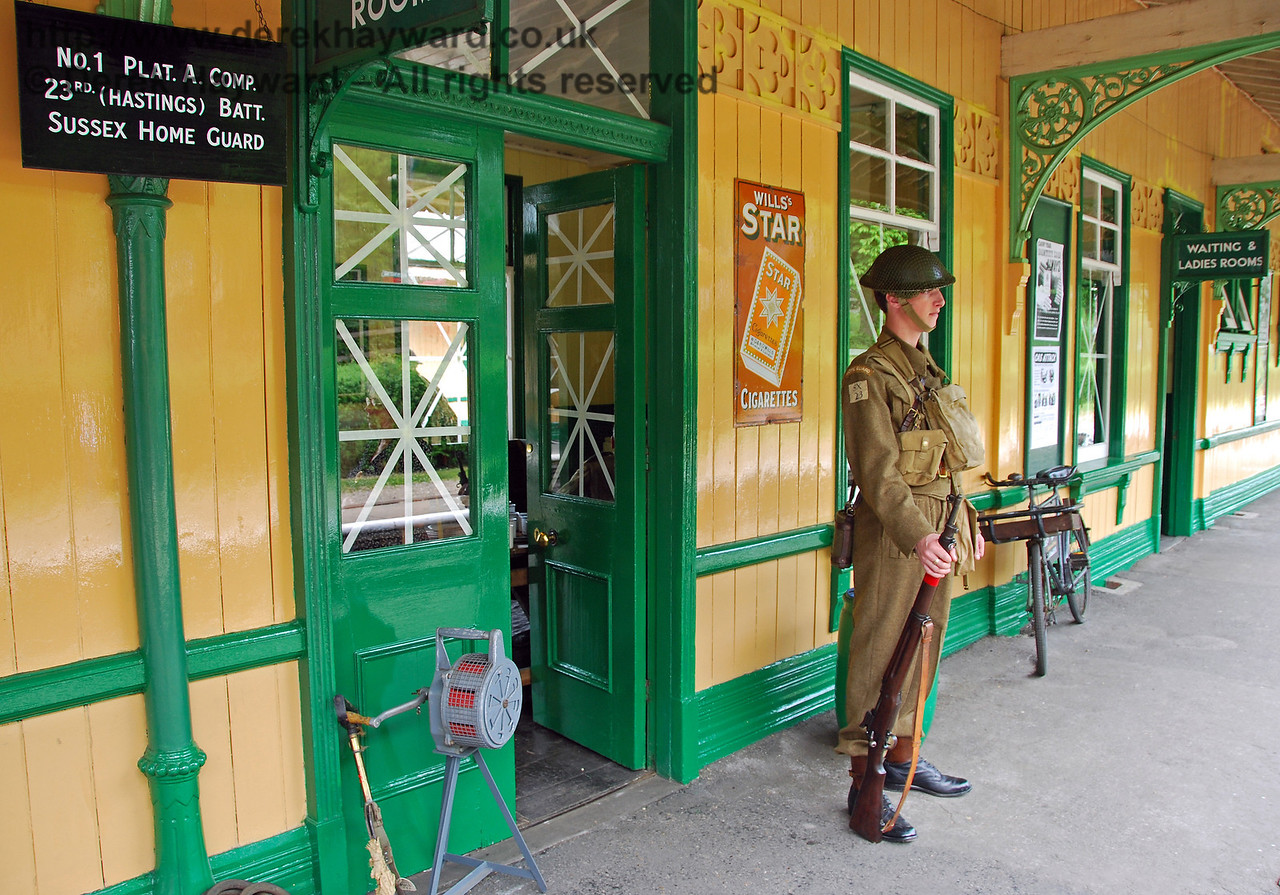 A sentry stands outside the Guard Room at Horsted Keynes. 10.05.2008
