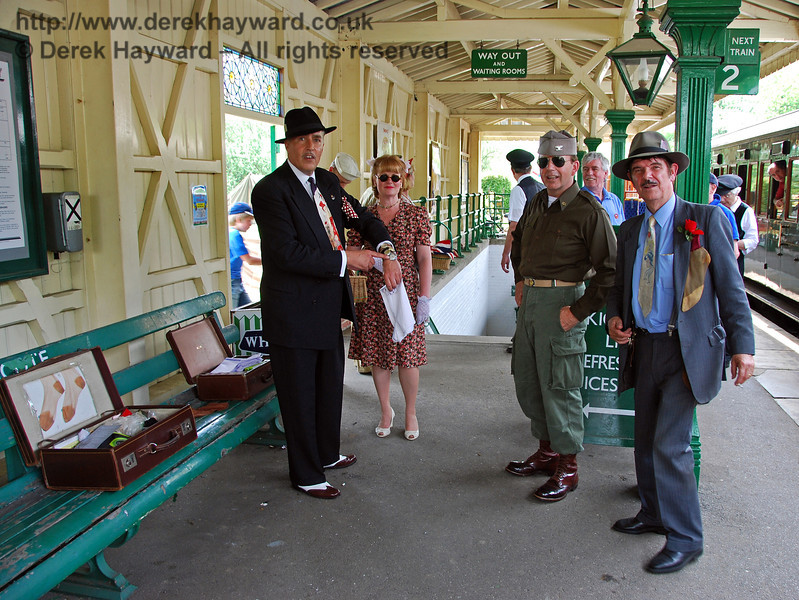 Viv the Spiv is caught on camera selling ladies unmentionables at Kingscote. 10.05.2008