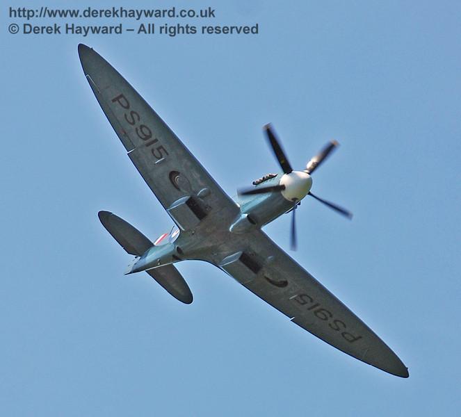Battle of Britain Memorial Flight Spitfire fly-past at Horsted Keynes. 11.05.2008