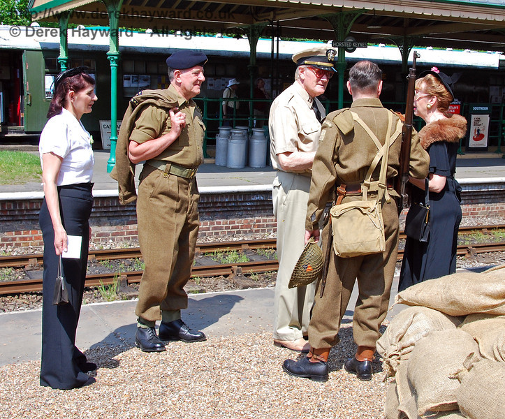 Soldiers and their ladies at Horsted Keynes. 11.05.2008