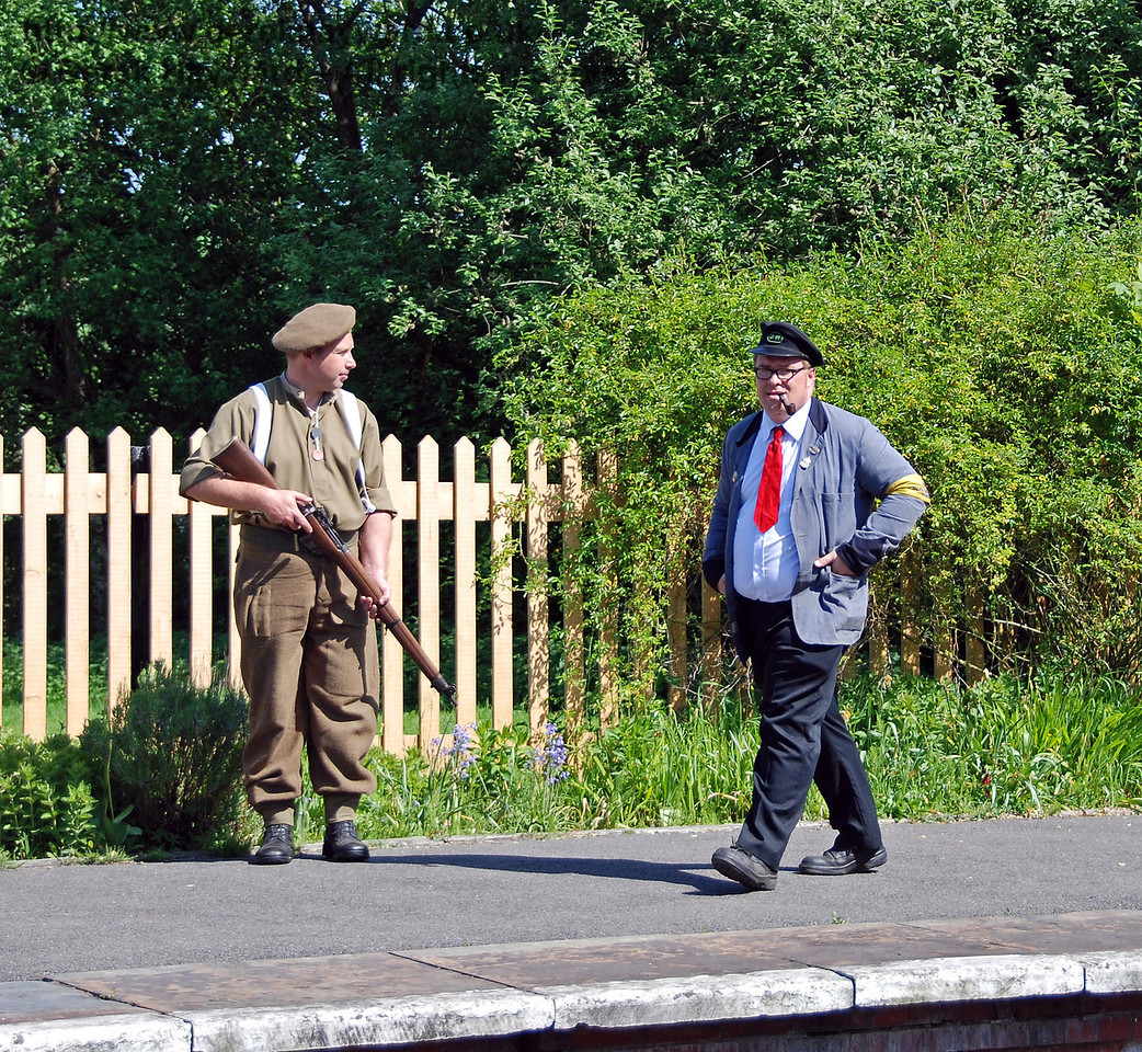 Keeping watch at Kingscote as a member of staff goes about his duties. 11.05.2008
