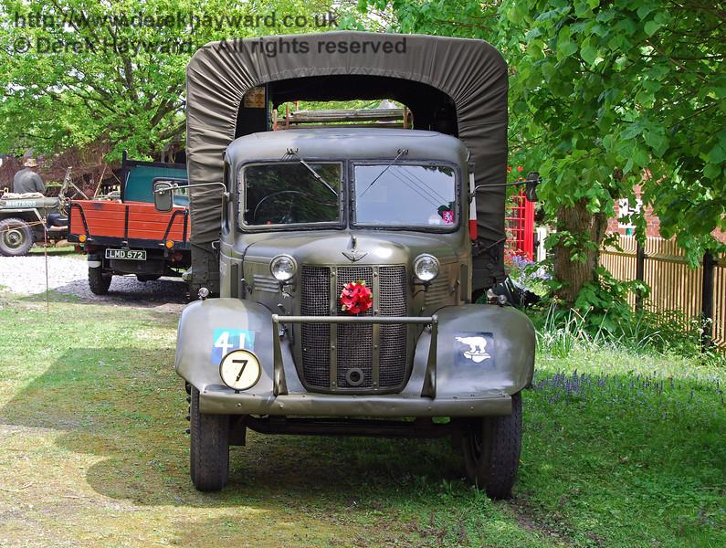 A military vehicle at Kingscote. 10.05.2008