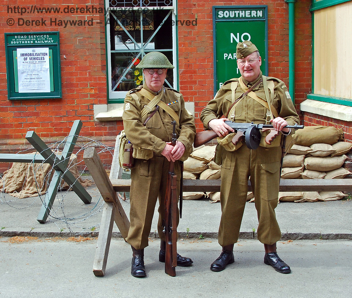 The Home Guard were on duty outside Horsted Keynes. 10.05.2008