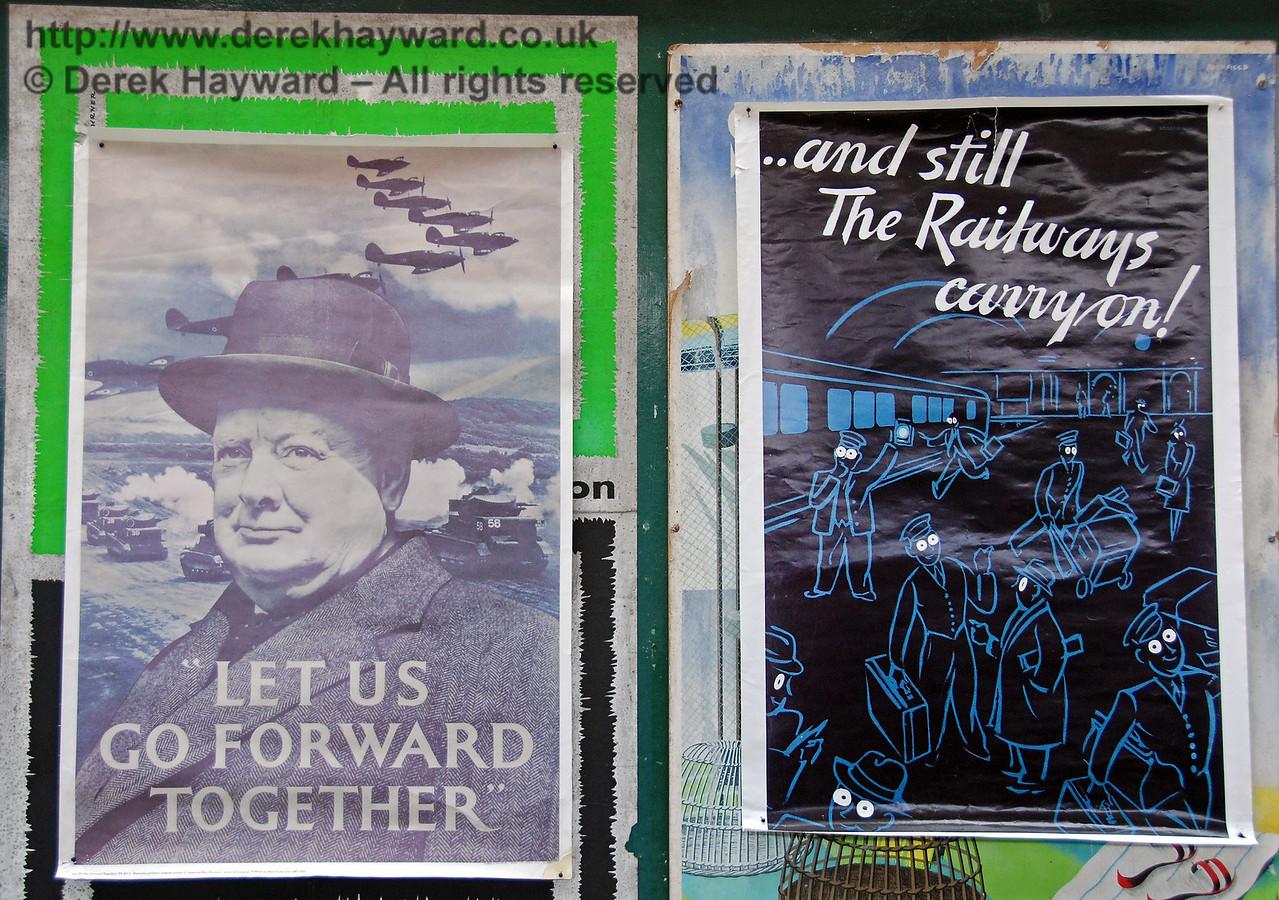 Wartime posters at Kingscote. 09.05.2009