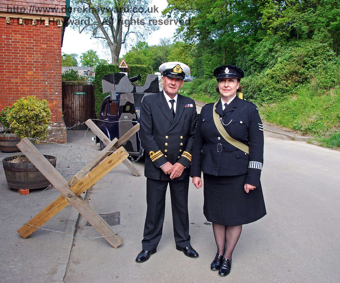 The Navy and police service outside Horsted Keynes. 10.05.2009