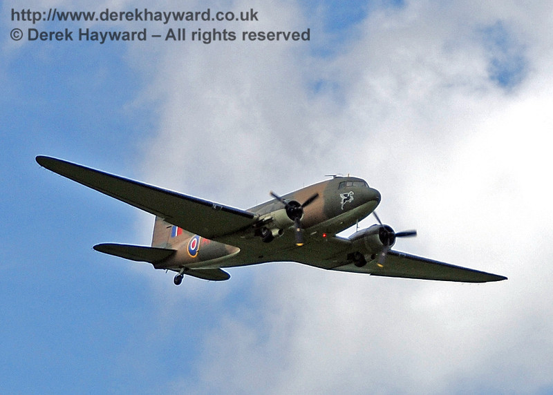 Battle of Britain Memorial Flight Dakota fly-past at Horsted Keynes. 09.05.2009