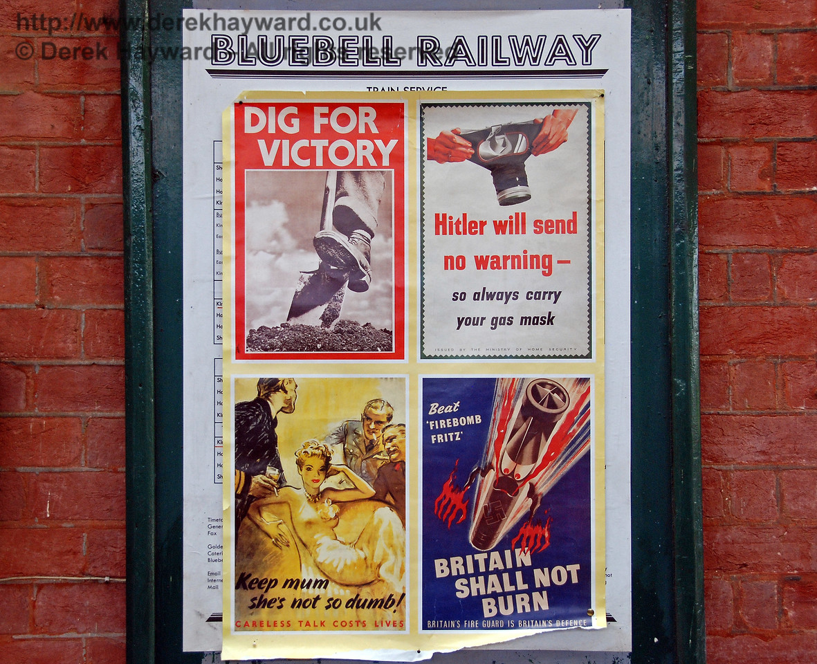 Wartime posters at Kingscote. 09.05.2009