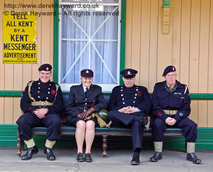 The Fire Brigade take a break at Horsted Keynes. 09.05.2009