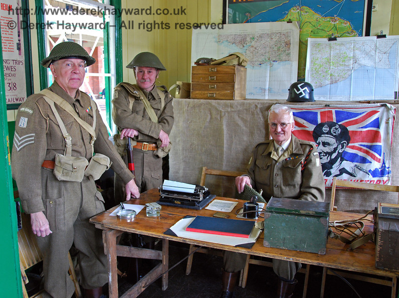 The Home Guard at Horsted Keynes were ready for anything... 09.05.2009