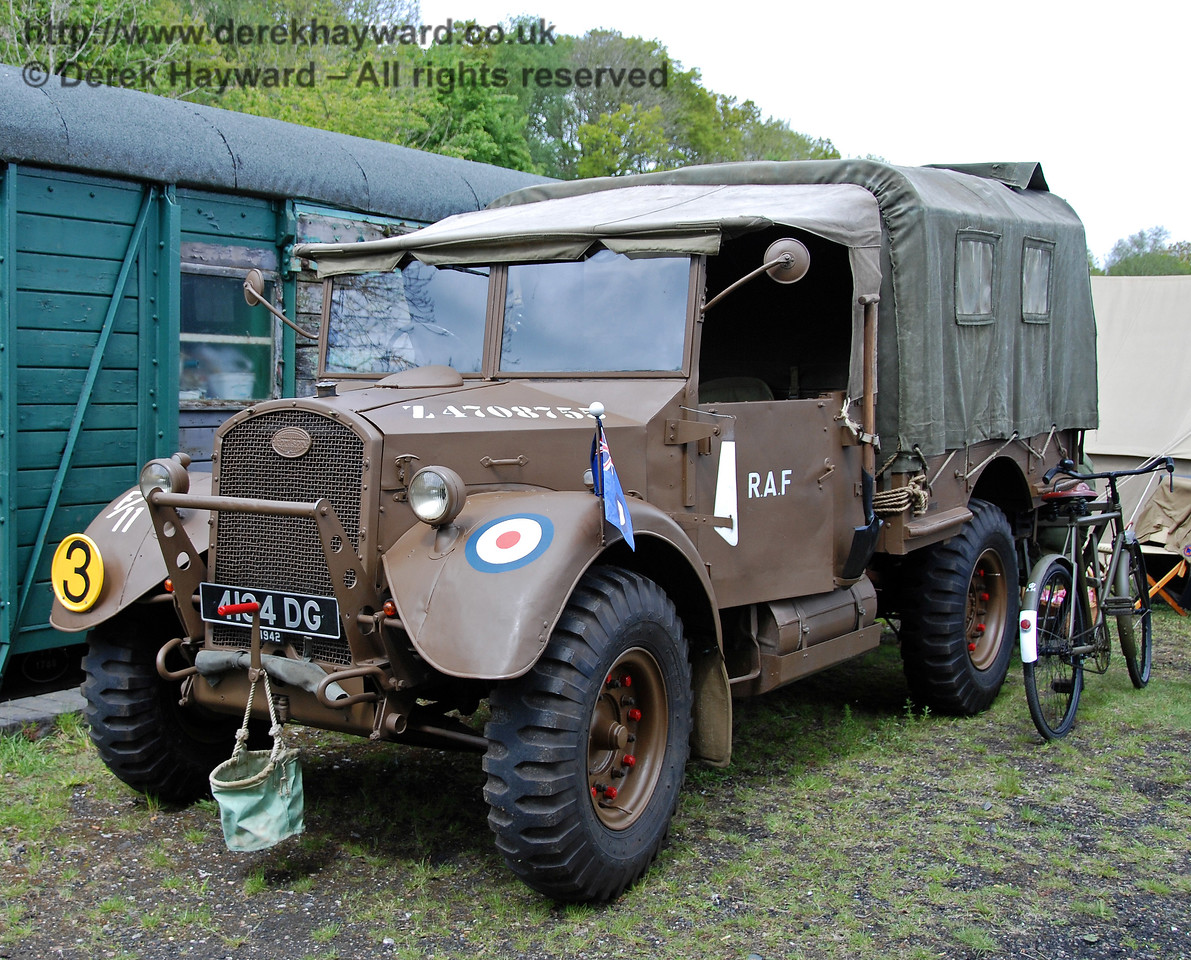 Military vehicle at Kingscote. 09.05.2009