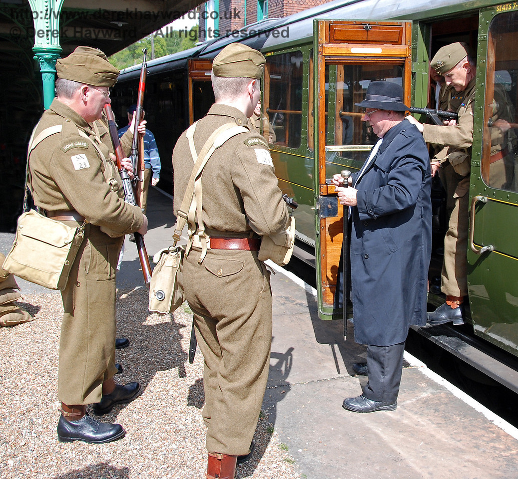 A spy is removed from the train at Horsted Keynes. 09.05.2009
