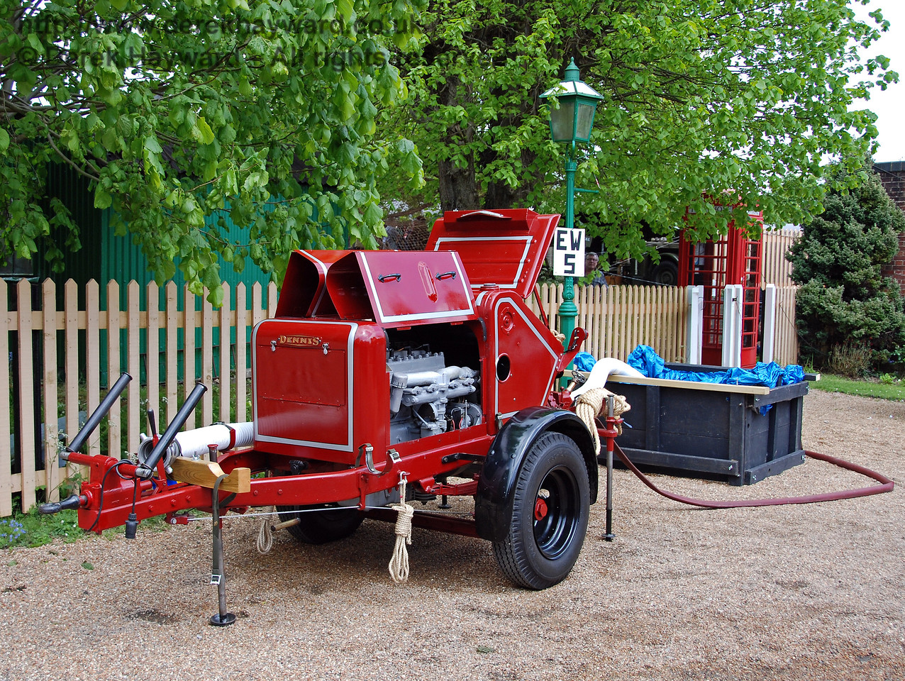 A fire pump at Kingscote. 09.05.2009