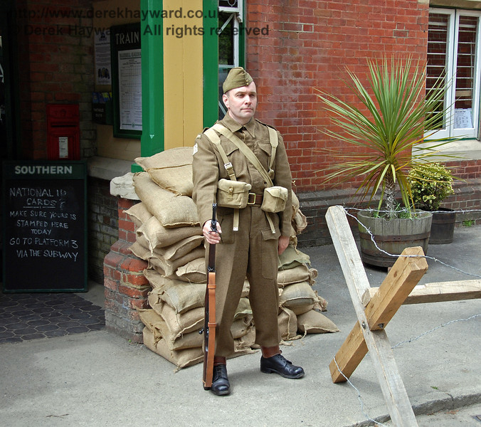 On guard at Horsted Keynes. 10.05.2009