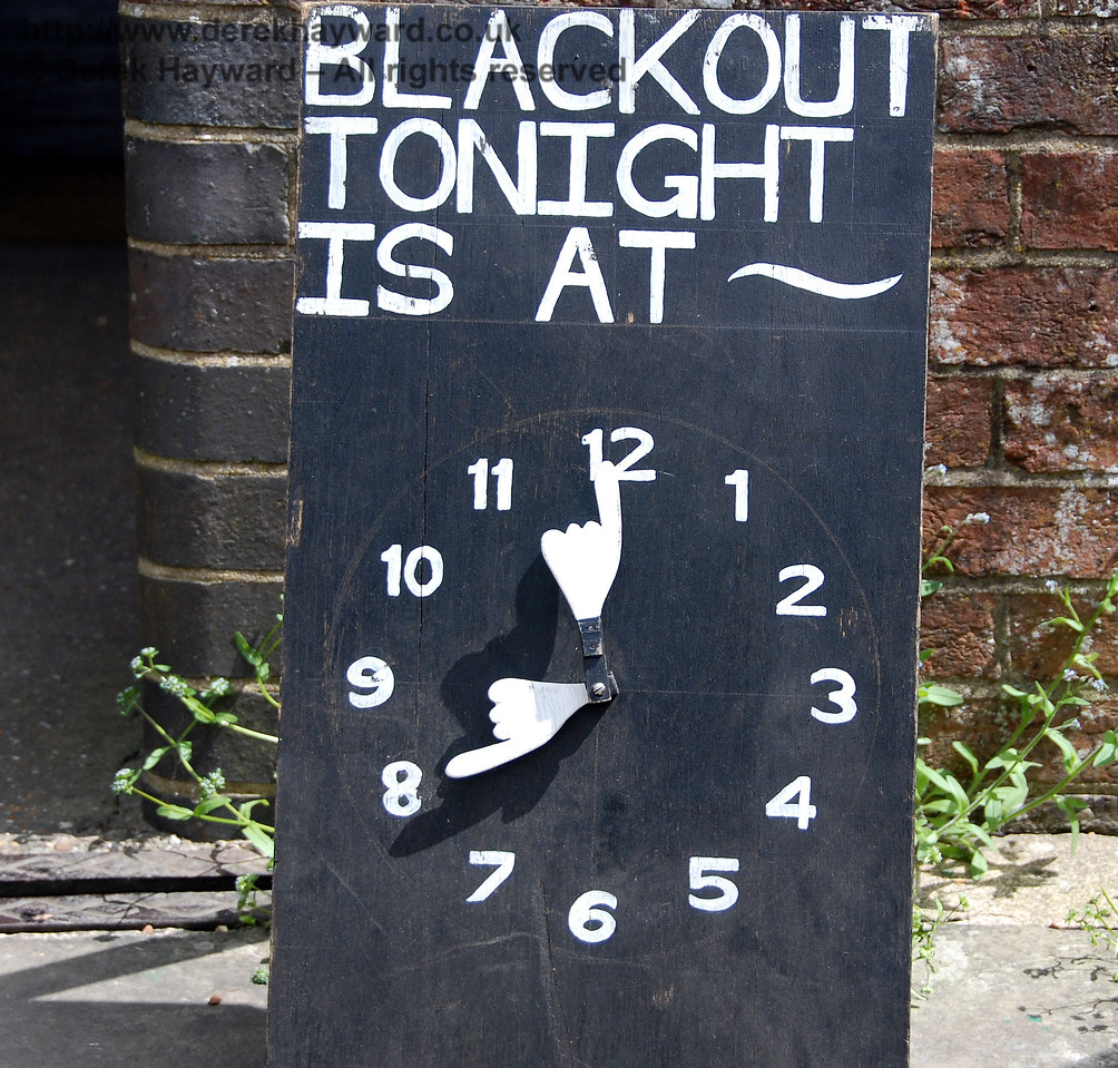Blackout notice at Kingscote. 09.05.2009