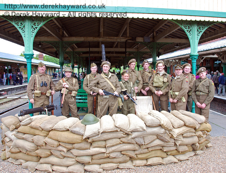 The assembled troops from various units at Horsted Keynes. 09.05.2009