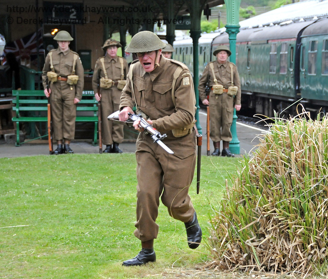 It is sometimes necessary to take drastic measures to clear photographers from the station....  Horsted Keynes 09.05.2010