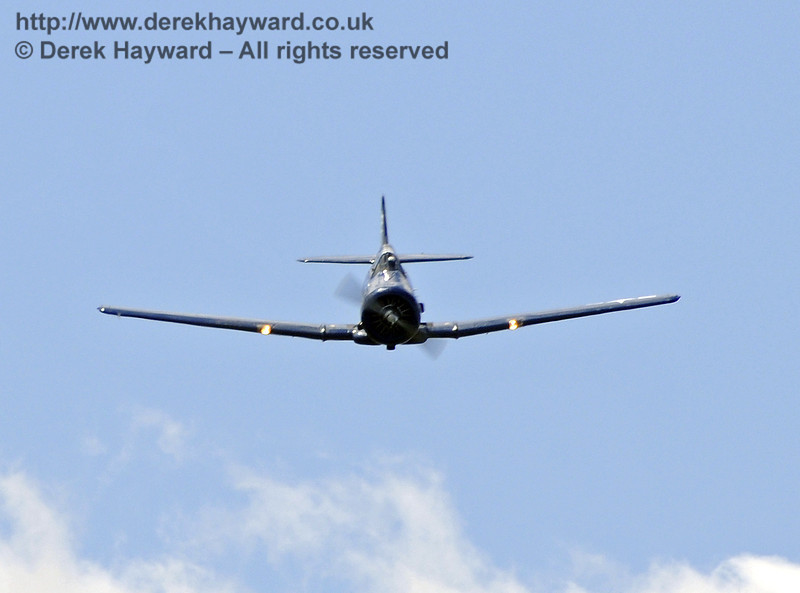 Texan T6 (Harvard) during the display at Horsted Keynes on 12.05.2012  7858