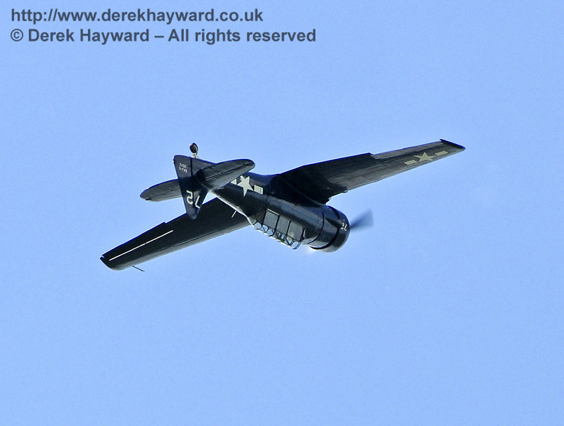 Texan T6 (Harvard) during the display at Horsted Keynes on 12.05.2012  7870