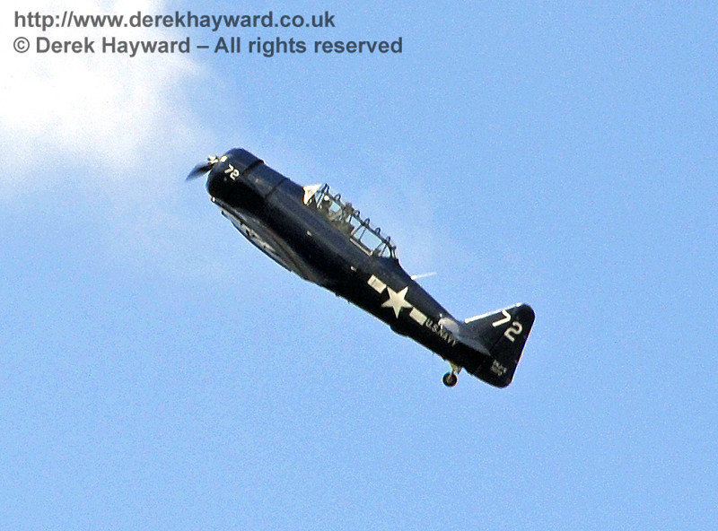 Texan T6 (Harvard) during the display at Horsted Keynes on 12.05.2012  4589