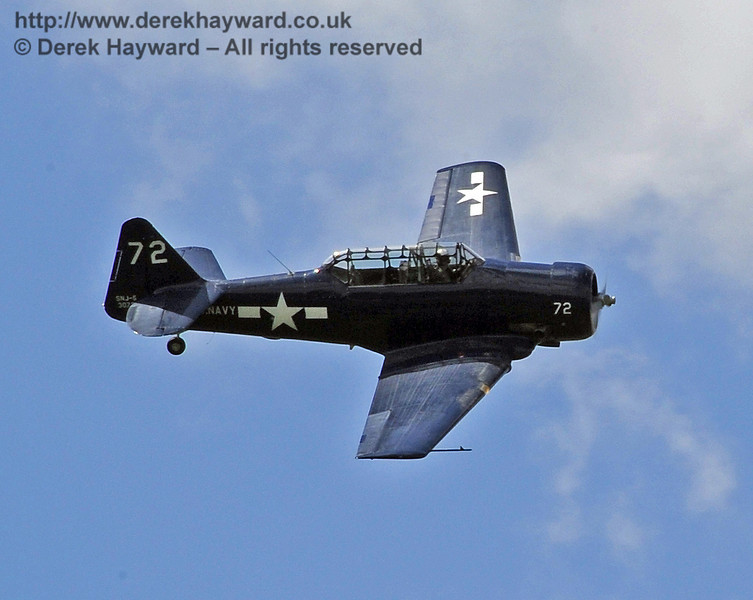 Texan T6 (Harvard) during the display at Horsted Keynes on 12.05.2012  4581
