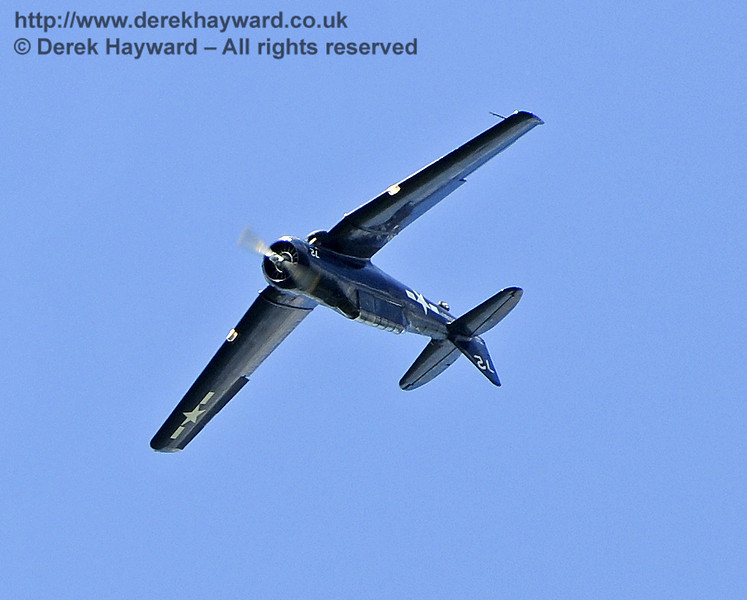 Texan T6 (Harvard) during the display at Horsted Keynes on 12.05.2012  7840