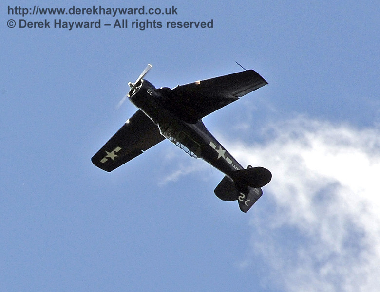 Texan T6 (Harvard) during the display at Horsted Keynes on 12.05.2012  4595