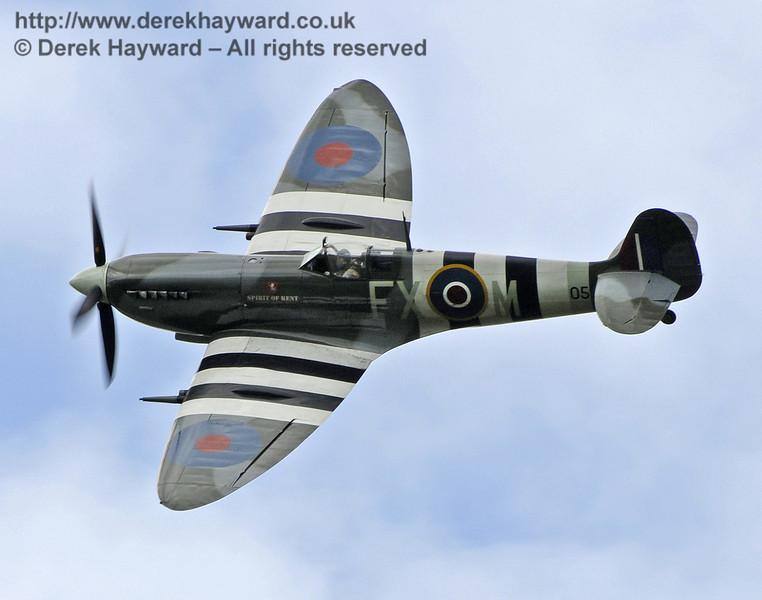 1944-built Spitfire Mk LF IX TA805 during the display at Horsted Keynes on 13.05.2012  8026