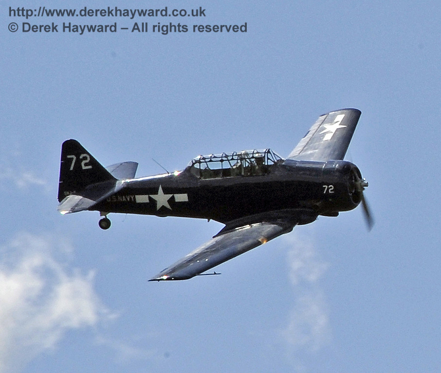 Texan T6 (Harvard) during the display at Horsted Keynes on 12.05.2012  4578