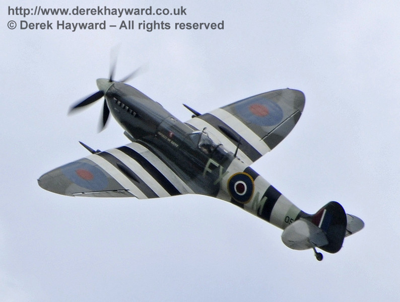 1944-built Spitfire Mk LF IX TA805 during the display at Horsted Keynes on 13.05.2012  7993