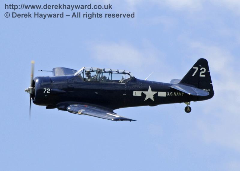 Texan T6 (Harvard) during the display at Horsted Keynes on 12.05.2012  7899