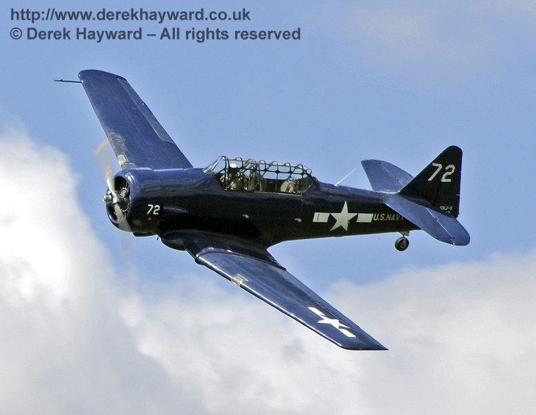 Texan T6 (Harvard) during the display at Horsted Keynes on 12.05.2012  7896