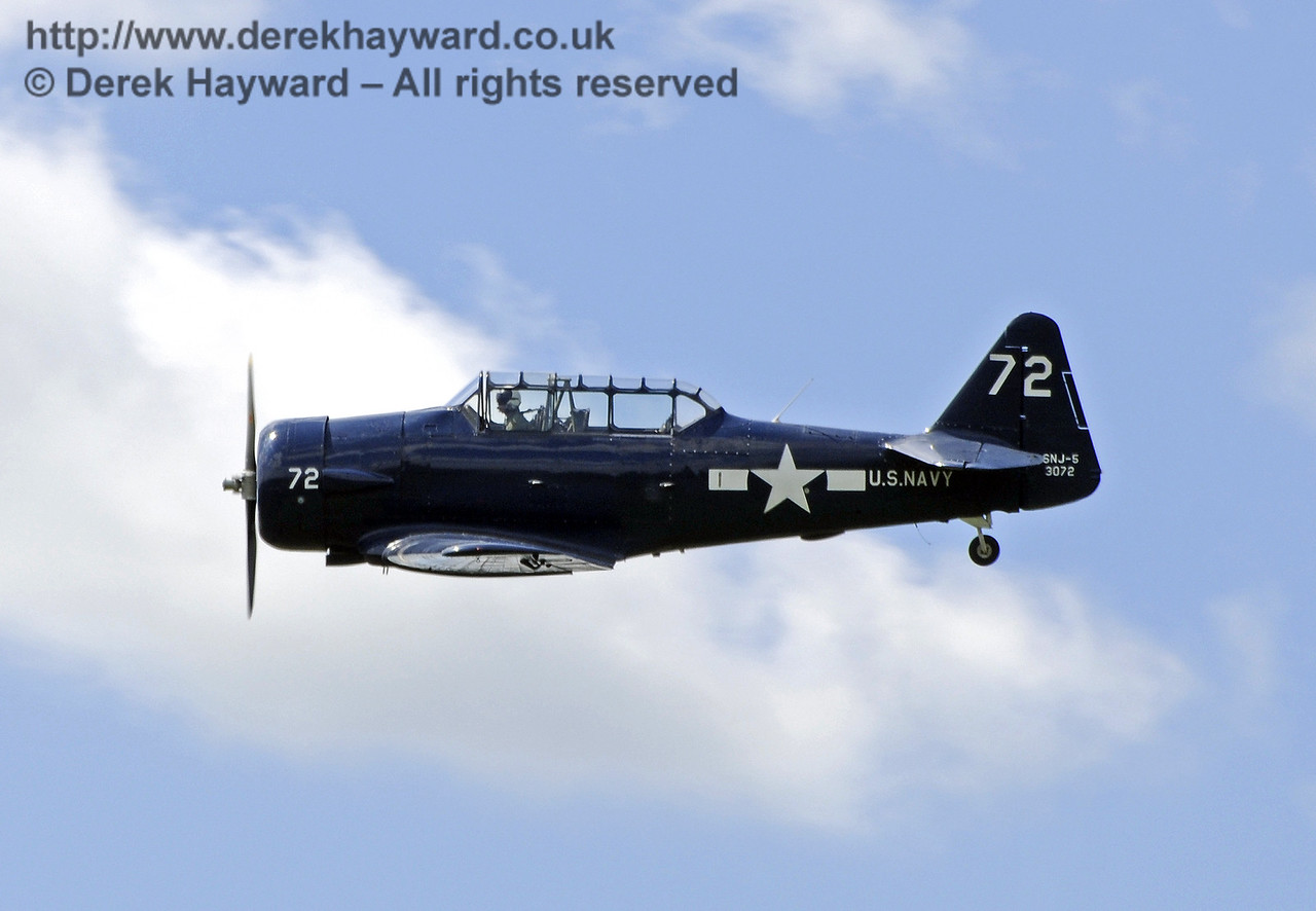 Texan T6 (Harvard) during the display at Horsted Keynes on 12.05.2012  7901