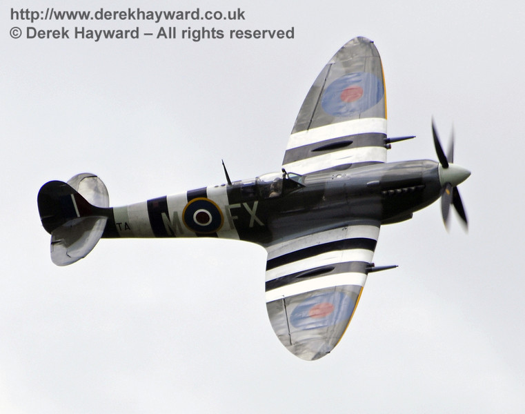 1944-built Spitfire Mk LF IX TA805 during the display at Horsted Keynes on 13.05.2012  7985