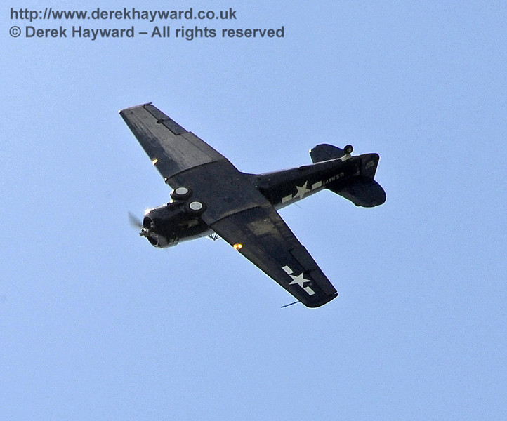 Texan T6 (Harvard) during the display at Horsted Keynes on 12.05.2012  4598