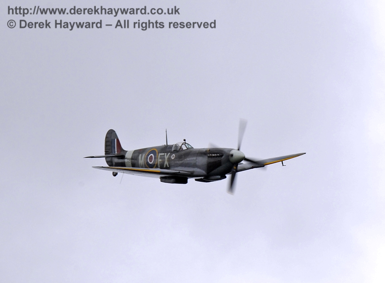 1944-built Spitfire HF MkIX, TA 80.  Southern at War, Horsted Keynes, 10.05.2014  9016