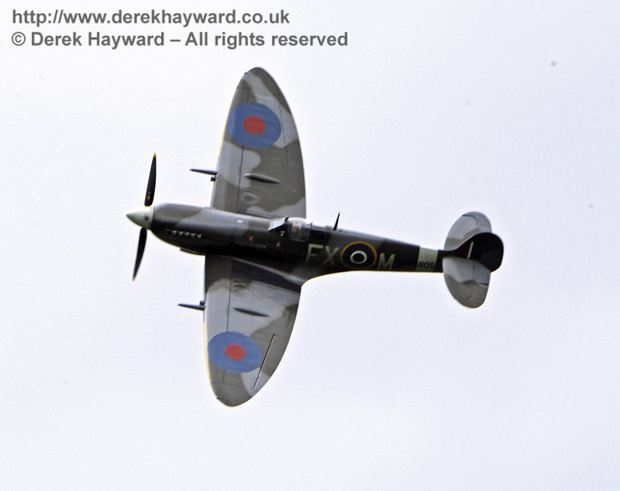 1944-built Spitfire HF MkIX, TA 80.  Southern at War, Horsted Keynes, 10.05.2014  8996