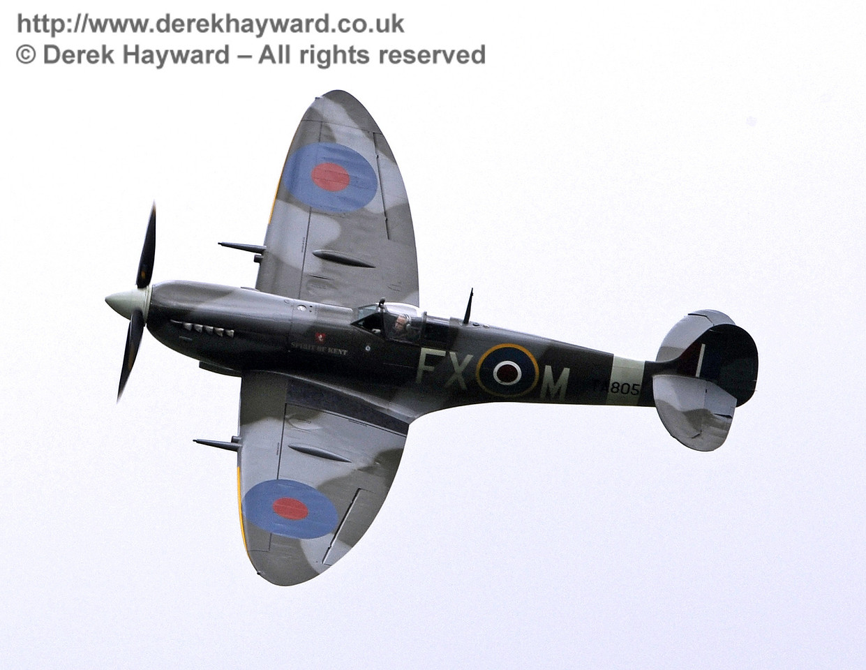 1944-built Spitfire HF MkIX, TA 80.  Southern at War, Horsted Keynes, 10.05.2014  9011