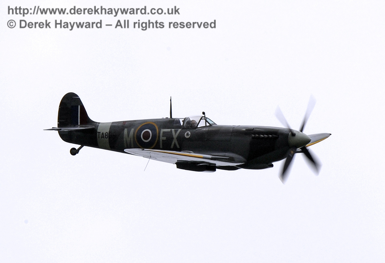 1944-built Spitfire HF MkIX, TA 80.  Southern at War, Horsted Keynes, 10.05.2014  8973