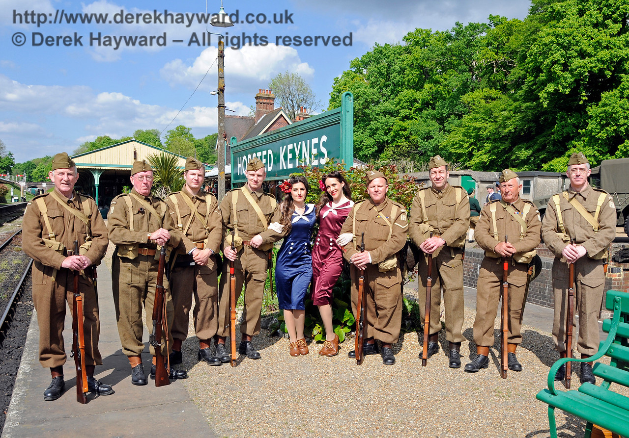 Sweetheart Swing with 23rd Sussex Home Guard, Southern at War, Horsted Keynes, 15.05.2016  15277