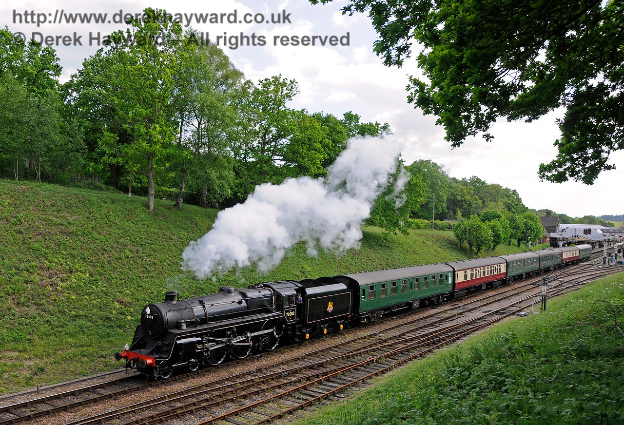 73082 leaving Horsted Keynes with a service train.  Southern at War, 14.05.2016  15230