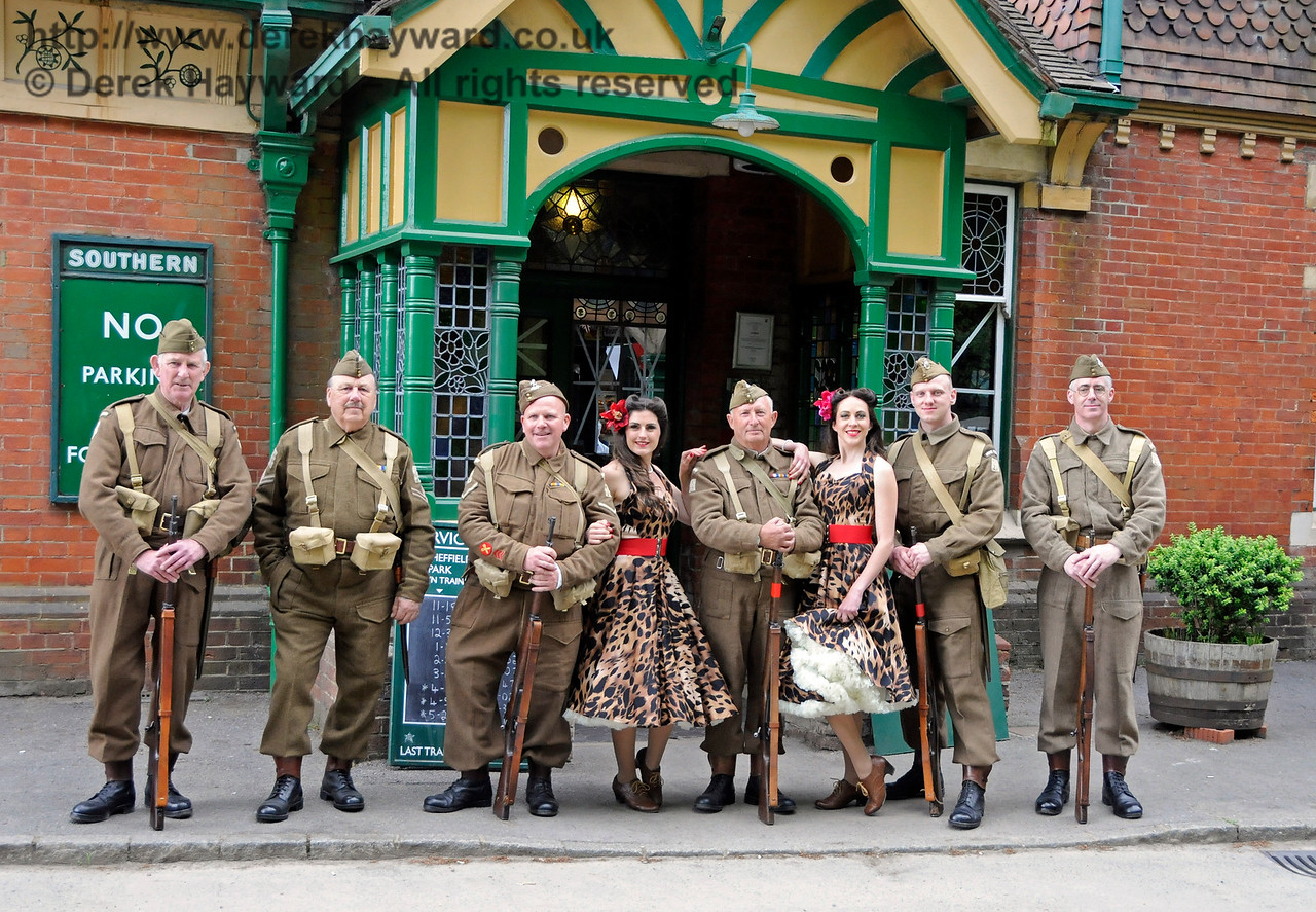 Sweetheart Swing with 23rd Sussex Home Guard, Southern at War, Horsted Keynes, 15.05.2016  15288