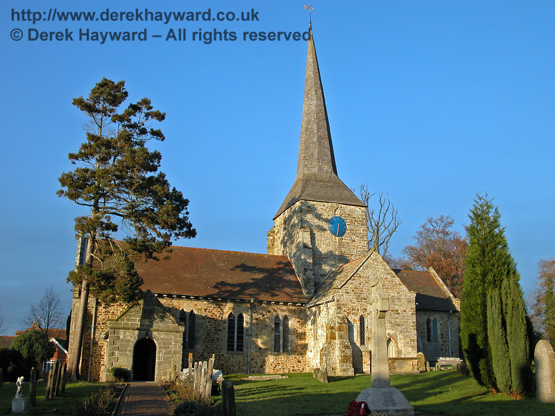 An earlier view of St Giles Church, Horsted Keynes, taken on 11.12.2005