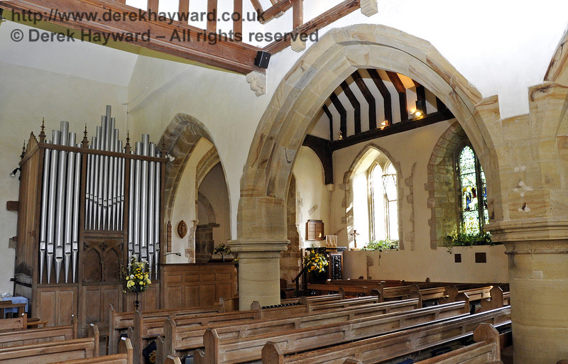 A general view of the interior of St Giles Church, Horsted Keynes, looking south east.   06.04.2013  6659