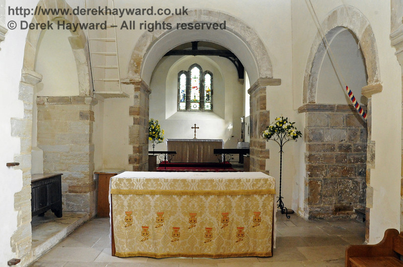 St Giles Church, Horsted Keynes, looking east towards the high altar.  06.04.2013  6634