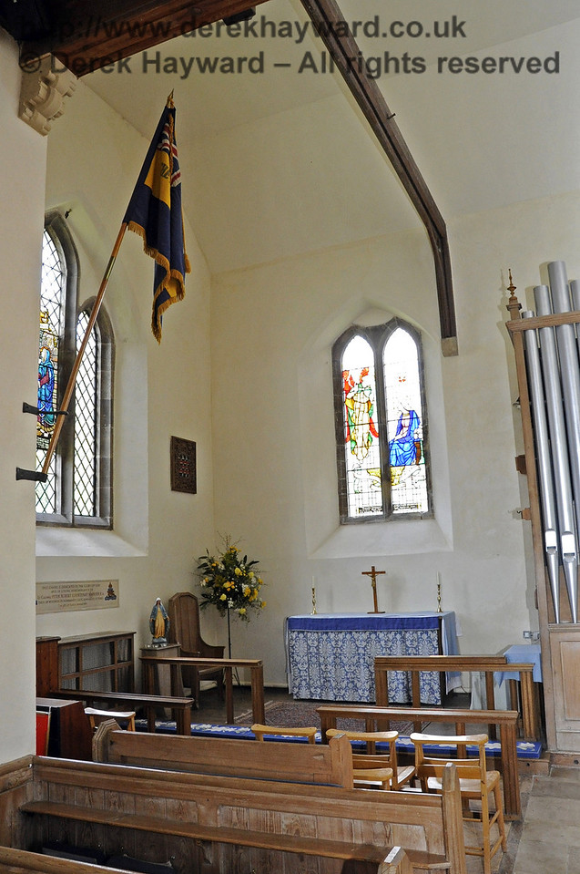 The Lady Chapel in St Giles Church, Horsted Keynes, with the altar at the eastern end of the northern aisle.  06.04.2013  6626