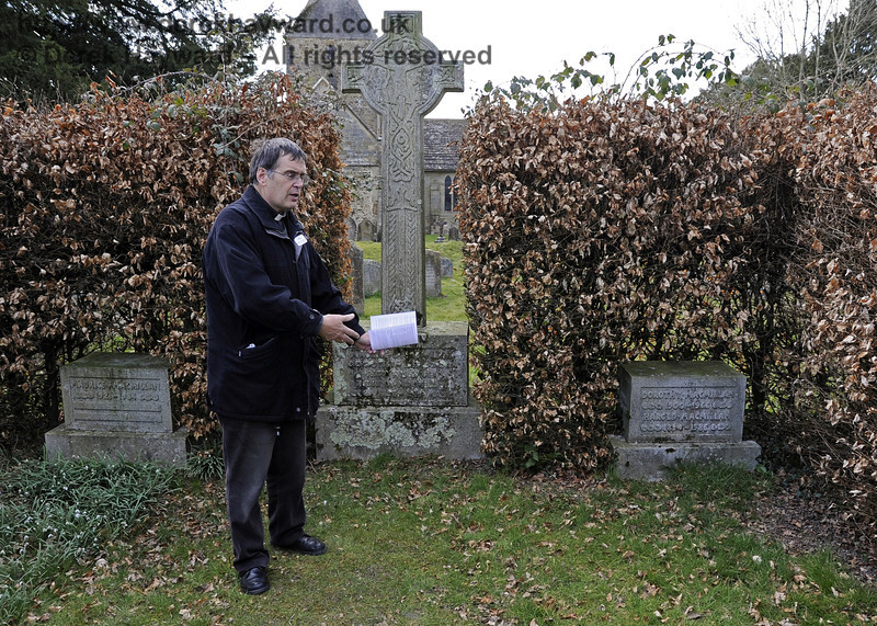 The Rector at the Macmillan Family Plot, St Giles Church, Horsted Keynes.  06.04.2013  6597